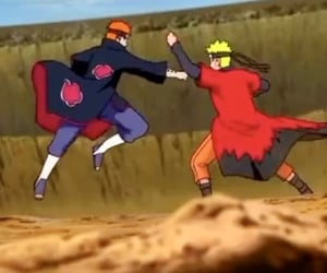 akatsuki, fight, and pain image