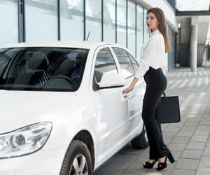 private jet, luxury car hire, and chauffeur hire image