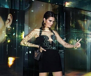 black dress, kendall jenner style, and luxury image