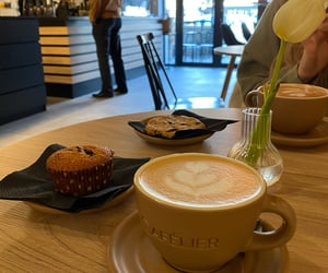 break, cafe, and tulip image