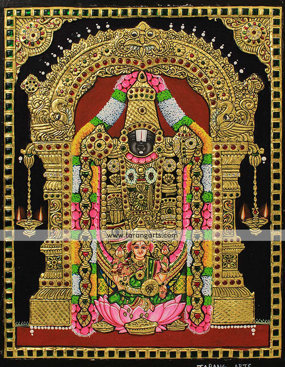 article and tanjore painting image