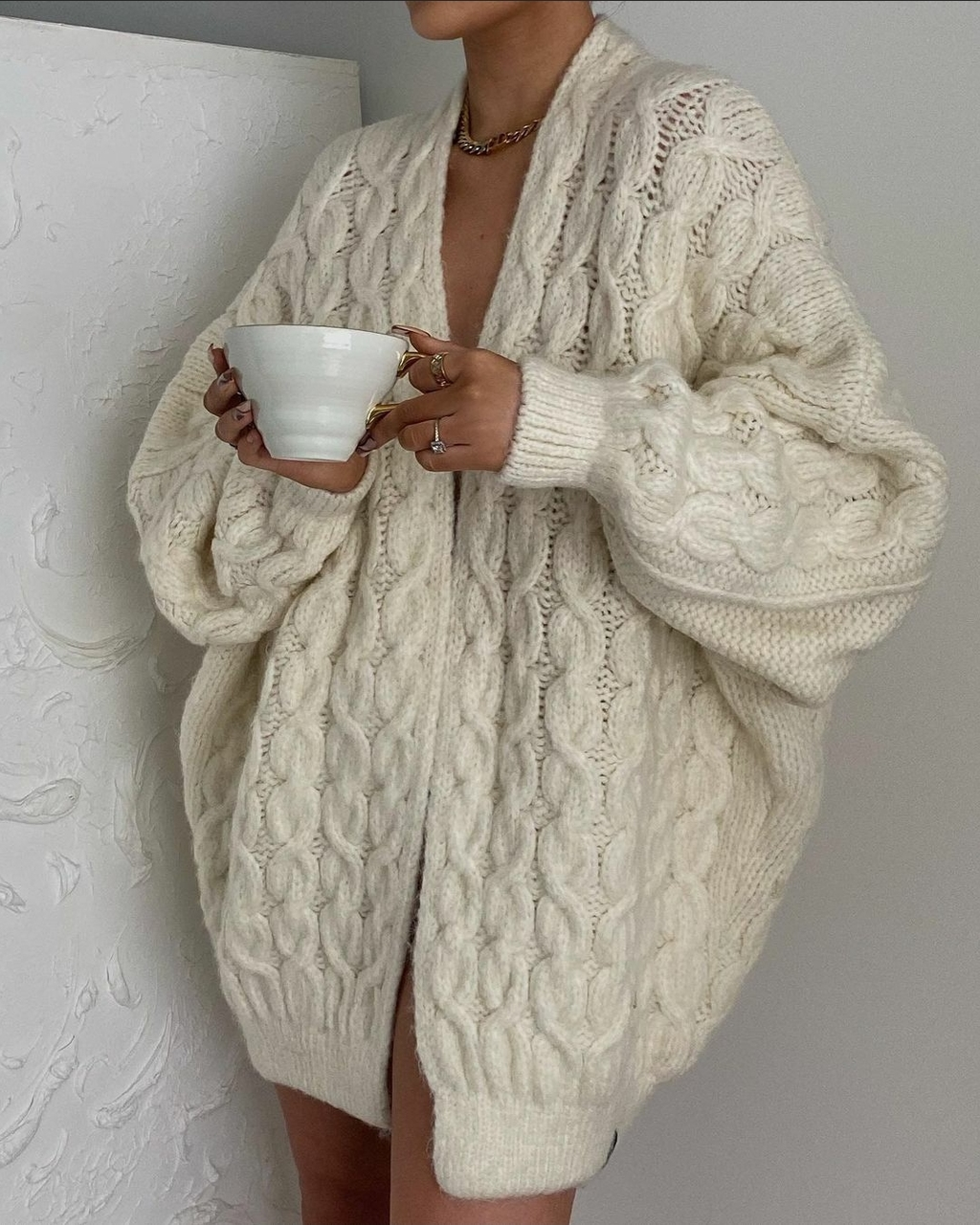 blogger, cardigan, and coffee image