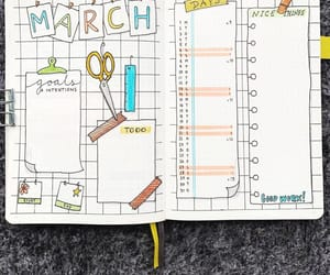 march, motivation, and bujo image