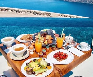 breakfast, summer, and food image