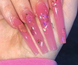 long nails, nails, and acrylic nails image