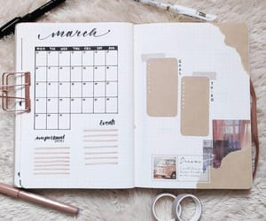 march, planner, and marzo image