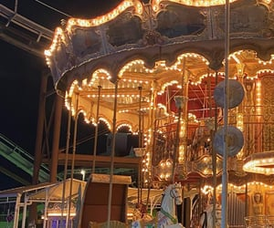 aesthetic, black, and carousel image