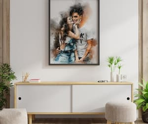 canvas print, digital painting, and painting from photo image