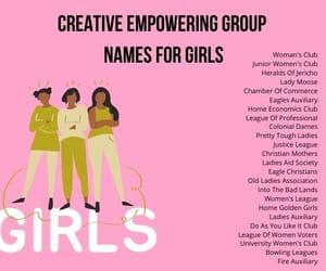 girls group names, cute girls group names, and creative group names image