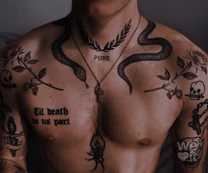tattoo, aesthetic, and snake image