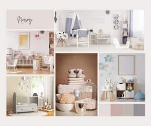baby, home, and mood board image