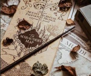 harry potter, autumn, and magic image