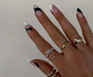 black, inspiration, and nail art image