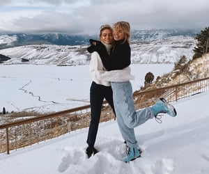 girl, wyoming, and snow image