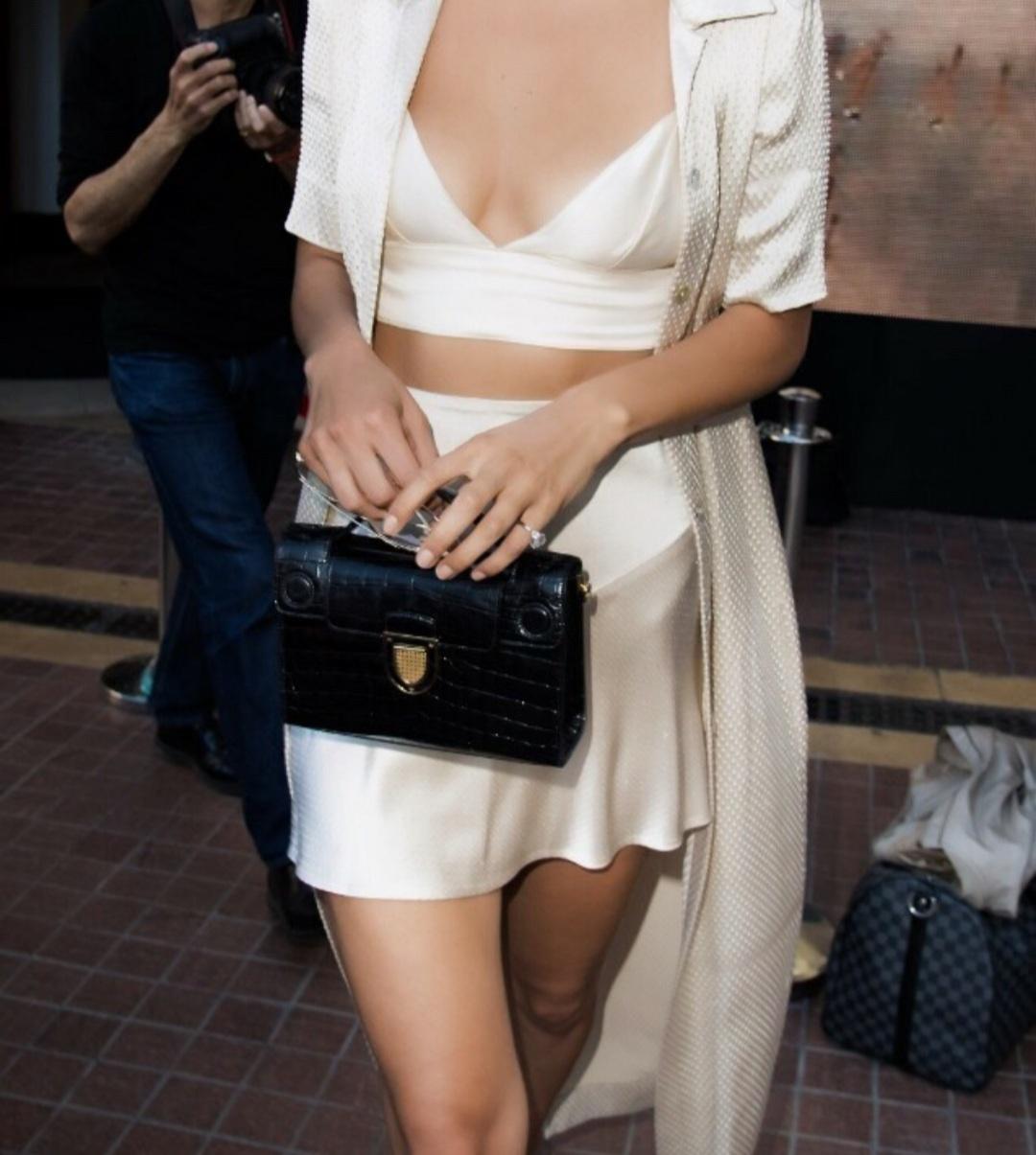 bag, fashion, and silk skirt image