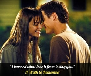 A Walk to Remember, couples, and quotes image