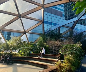 architecture, canary wharf, and garden image