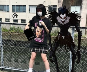 death note, anime, and goth image