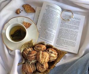 book, jewelry, and tea image