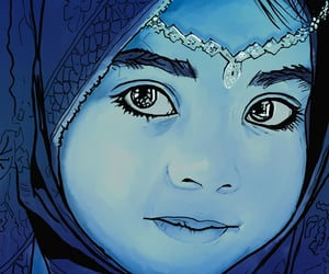 art, hijab, and müslimah image