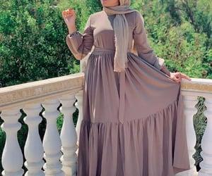 mocha flowy maxi dress image