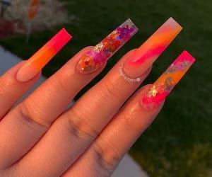 colors, fake nails, and nails image