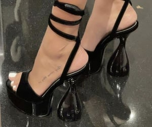 black heels, strap heels, and outfit inspiration inspo image