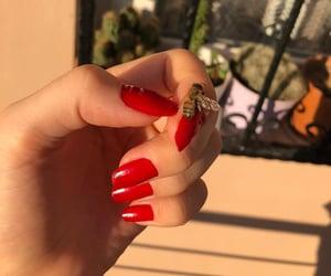 nail, beautiful, and bee image