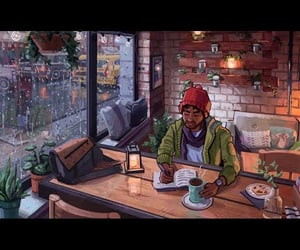 aesthetic, cafe, and gif image