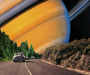 space, car, and saturn image