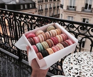 colorful, macaroons, and yummy image