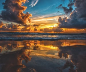 australia, beach, and clouds image