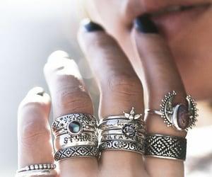 moda, anillos, and belleza image