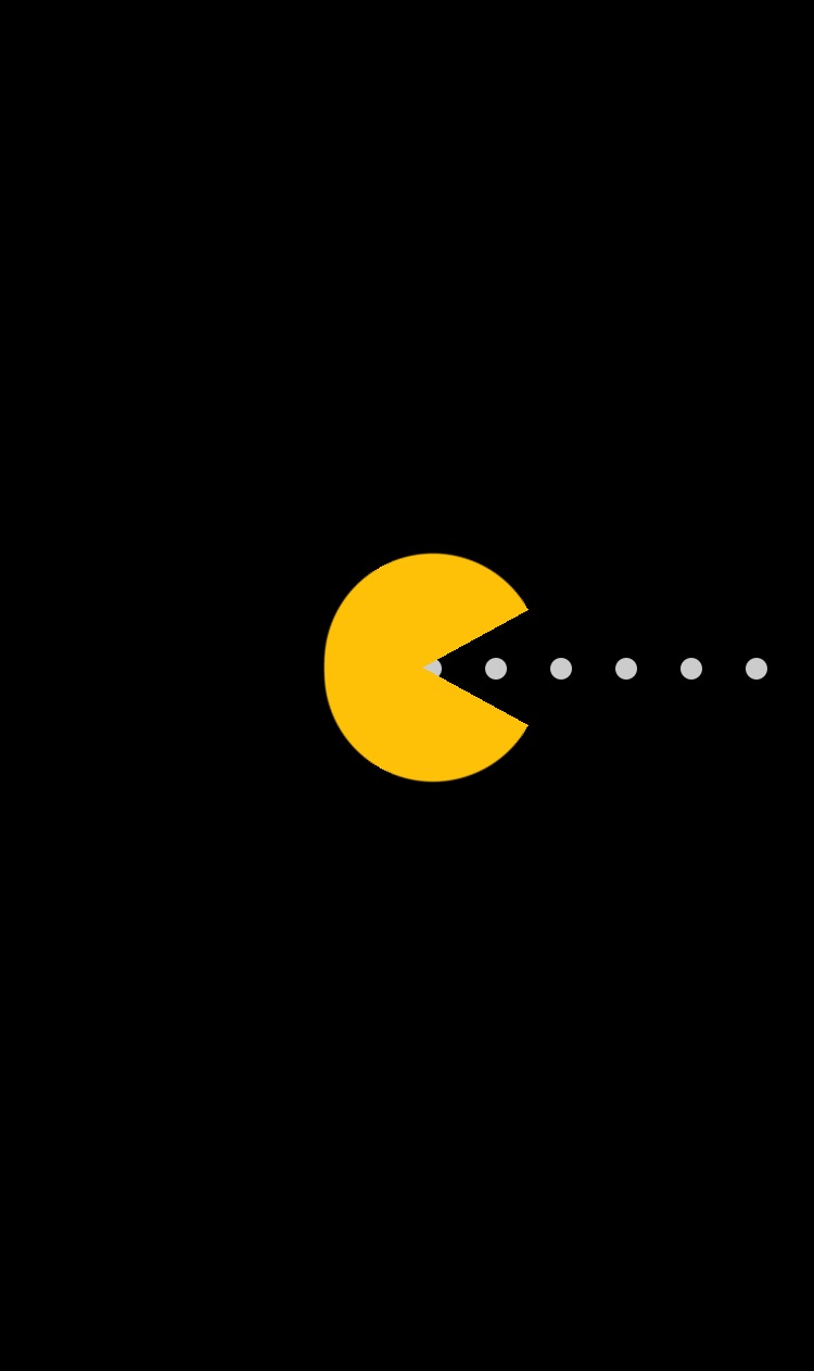 black, game, and pacman image