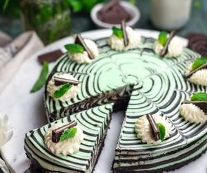 chocolate, comida, and menta image