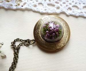 dried flowers, etsy, and vintage jewelry image