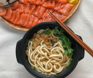 delicious, dinner, and noodles image
