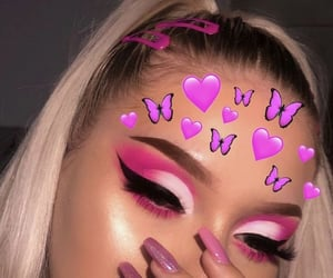 aesthetic alternative, explore viral fyp, and pink feed nails image