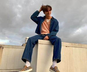 jeans, shoes, and singer image