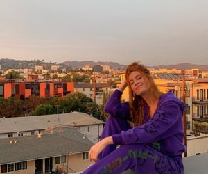 city, smile, and sunset image
