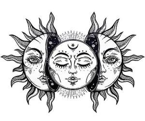 art, spell, and sun image