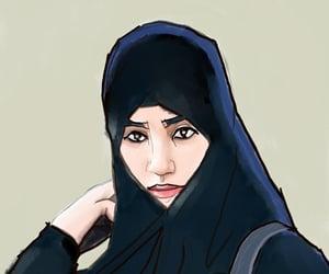 islamic art, jilbab, and art image