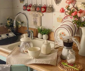decor, kitchen, and cups image