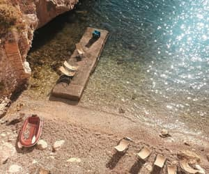 boat, cove, and wanderlust image