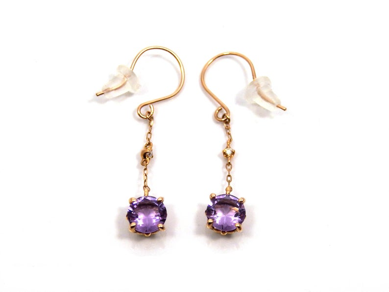 etsy, gold earrings, and vintage earrings image
