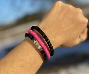 handmade, black, and bracelets image
