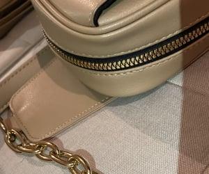 bag, gold, and beige image