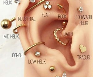 earrings, Piercings, and cute image