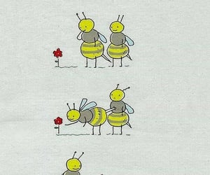 bees, flower, and hurt image
