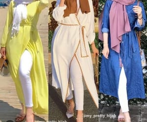 hijab style and maxi dresses image